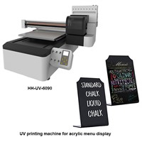 UV Printing Machine for Acrylic Menu Display