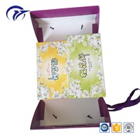 Customized Printing Design Food Snack Mooncake Packaging Paper Gift Box with Handle