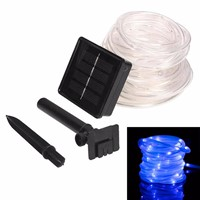 Solar Rope Lights, Waterproof Copper Wire Lights Tube, Outdoor Rope Lights for Garden Yard Path Fence Tree Wedding Party