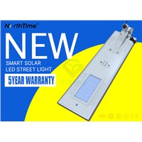 15W 20W 30W Outdoor All in One Solar LED Street Light 5 Years Warranty