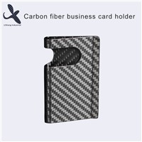 3K Real Carbon Fiber Business Name Card Holder, Metal Carbon Fibre Money Clip Credit Card Holder