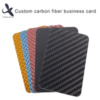Custom Waterproof 3K Carbon Fiber Business Cards Glossy Matte Carbon Fibre Card