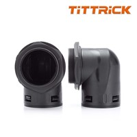 Tittrick High Quality Flexible Conduit Adaptor Black