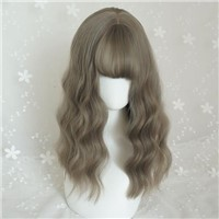 Fashion Hair Weft Baggage Special Wig Fashion Short-Haired Girls Fluffy & Sloping Bangs Bobobo Head Shave Real Wave He