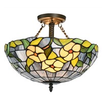 "16"" Color Glass Ceiling Lamp(Dia. 40*33cm)"