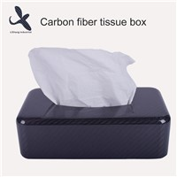 100% Real Full Carbon Fiber Car Tissue Box Car Accessory Carbon Paper Cover Case