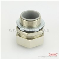 Liquid Tight Flexible Conduit Nickle Plated Brass Straight Connector