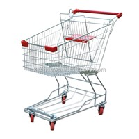 Trolley Stainless Steel Shopping Cart Supermarket Trolley Shopping Mall