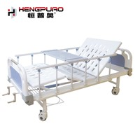 Medical Furniture Reclining Standard 2 Cranks Manual Hospital Beds for Sale Price