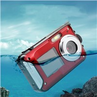 24 Mega Pixel Double Screen Waterproof Self-Timer Digital Camera HD Mini Diving Camera Motion DV