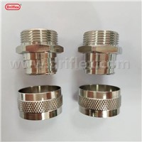 Driflex Vacuum Jacketed Conduit Fittings VJ Nickel Plated Brass Fixed Connector Brass Adaptor
