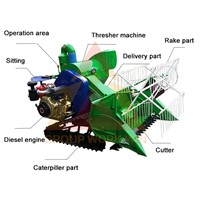 Chinese Hot Sale Rice Combine Harvester
