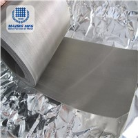 Silver Grey Stainless Steel Braided Wire Cloth