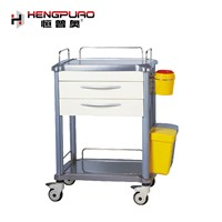 Standard Size Manual ABS Type Hospital Use Treatment Trolley for Sale