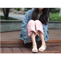 Sandals 2019 New Fashion Gentle Roman Summer Fairy Flat Sole Women's Shoes with 100 Heels
