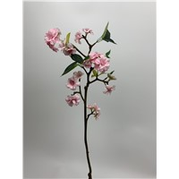 Peach Blossom Spray Peach Color Real Touch Stem Artificial Facke Flowers