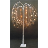 Copper Wire Weeping Willow Decorative Trees with LED Lights