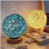 Innovative Fancy Bedroom LED Bedside Rattan Ball Night Light, Decorative, Can Also Be Used as a Birthday Gift