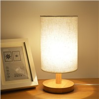 the Cloth Cover of Boreal Europe Style, Contracted & Contemporary Real Wood Bedroom Originality the Small Desk Lamp of
