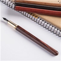 Red Wood & Rosewood Pen Brass Signature Neutral Wood Gift Custom