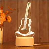 Creative 3D Bedroom Decoration LED Night Light, Can Be as a Birthday Gift, Logo Custom