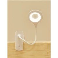 Charging LED Eye Protection Lamp, Clamp Bedside Dormitory Lamp Live Artifact.