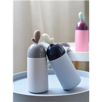 Korean Version 304 Stainless Steel Thermos Cup Men & Women Creative Lovely Fresh Student Portable Water Cup Drinking c