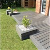 Dark Grey Waterproof Non Slip WPC Deck Flooring