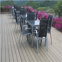 Engineered Teak Wood Grain Flooring WPC Composite Decking