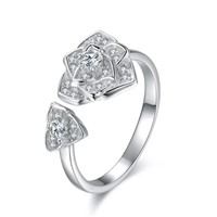 Fashion Jewelry Wholesale Charms Sterling Sliver Open Zircon Engagement Ring. Made from Sliver & Cubic Zircon, the Rings