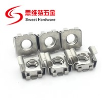 Stainless Steel Cabinet Cage Nut Galvanized Steel M6 M8 Cage Nut