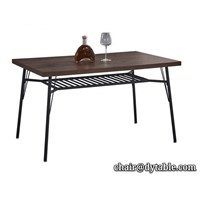 Dining Room Furniture Stainless Steel Dining Table Designs with Metal Legs