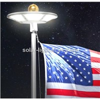 Outdoor Solar Flagpole Light Illuminating Pole & Flag by 120pcs LEDs Solar Light