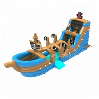 Kids Pirate Ship Inflatable Wet & Dry Slide for Sale