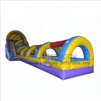 Rainbow Color Funny Summer Games 18m Long Inflatable Water Slip & Slides