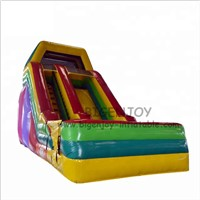 Rainbow Colorful Kids Inflatable Water Games Commercial Cheap Water Slides