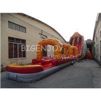 Commercial Amusement Park Giant Inflatable Volcano Water Slip Slide with Pool