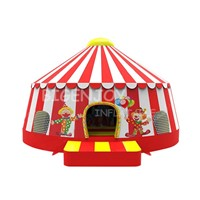 Red Christmas Clown Inflatable Bouncy House for Children