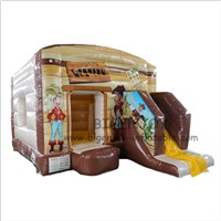 Western Cowboy Theme Air Kids Mini Bounce House Party Jumper Moonwalks