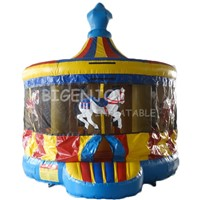 Outdoor Carousel Round Inflatable Bouncer Inflatable Bouncy House