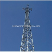China Manufacturer Self Supporting Hot Dipped Galvanized Steel 3 Legged Communication Tower
