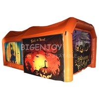 Inflatable Halloween Tent with Lighting for Kids Halloween Party