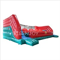 Kids Adults Team Building Sports Big Baller Wipe Out Inflatable Obstacle Course Big Balls Challenge Bouncer Games