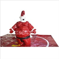 Custom Sport Games Fighting Arena Ring Kids Adults Pink Red Christmas Santa Inflatable Foam Padded Sumo Wrestling Suits