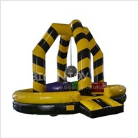Party Rental Kids Adults Last Man Standing Big Baller Wipeout Bouncer Team Building Game Giant Inflatable Wrecking Ball