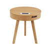 Modern Living Room Furniture Wooden Coffee Table Speaker Wireless Charger End Side Table