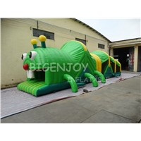 Caterpillar Inflatable Obstacle Course Playground with Slide for Kids Party