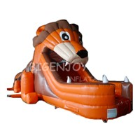 Commercial Outdoor Cute Lion Animal Inflatable Obstacle Course