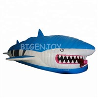 2019 New Mouth Inflatable Shark Obstacle Course for Kids