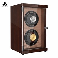 CHIYODA Double Watch Winder with Dual Mabuchi Motor & LCD Touch Screen - High Gross Brown